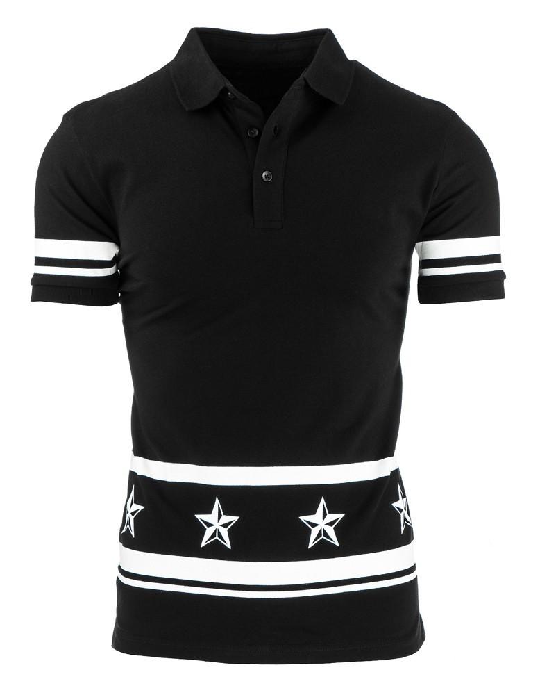 """Košeľa polo (px0078) - čierna """"S"""""""
