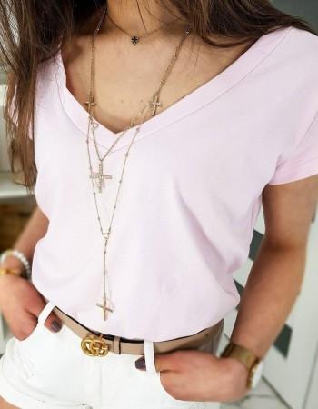 Ružové dámske tričko LOLI RY1352