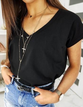 Čierne dámske tričko LOLI RY1278