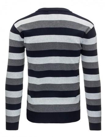 "Pánsky pásikavý sveter (wx0871) - tmavomodrý ""M"""