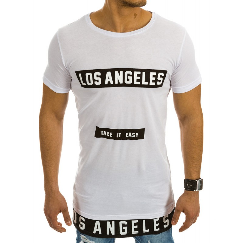 Biele pánske tričko s potlačou (rx1990)