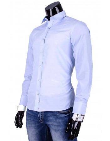 Pánska elegantná košeľa PREMIUM (dq0007) - modrá
