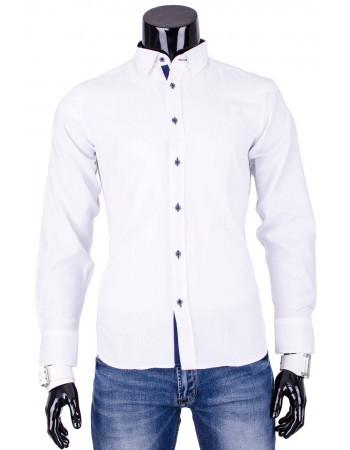 Pánska elegantná košeľa PREMIUM (dq0008) - biela