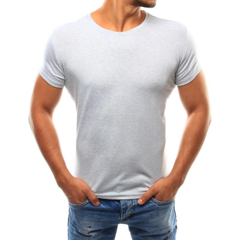 Pánske jednofarebné tričko (rx2586) - šedé