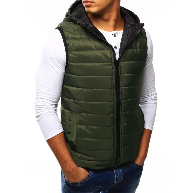 Pánska prešívaná vesta (tx1923) - zelená c91ffe88317