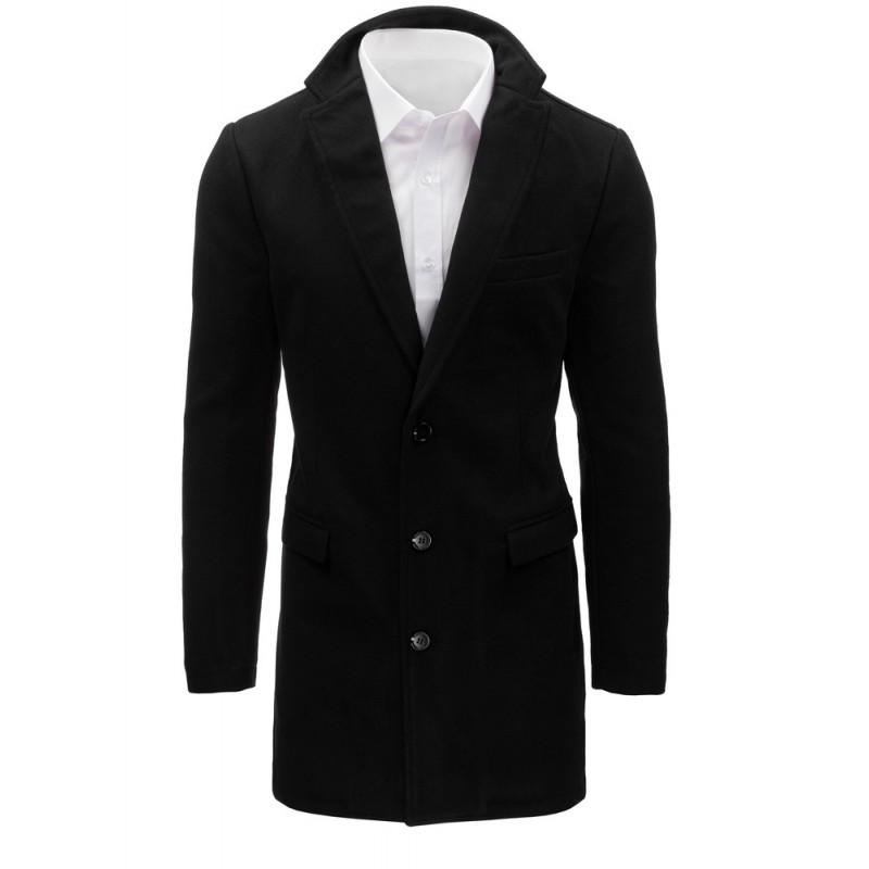 Pánsky kabát (cx0360) - čierny cf0e5925cd6