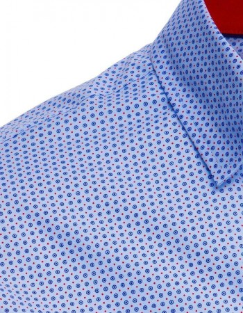 Błękitna koszula męska we wzory DX1869