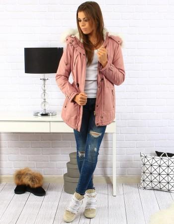 "Dámska zimná bunda (ty0141) - ružová ""XL"""