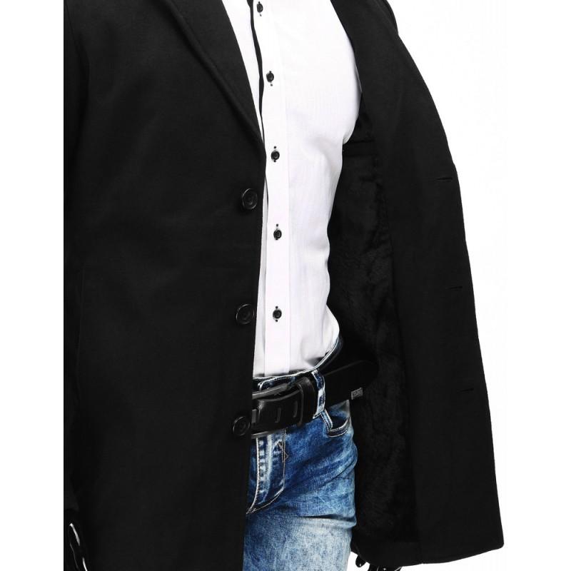 Pánsky čierny kabát (cx0357)