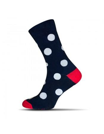 Ponožky Avantgard bodky - tmavomodré