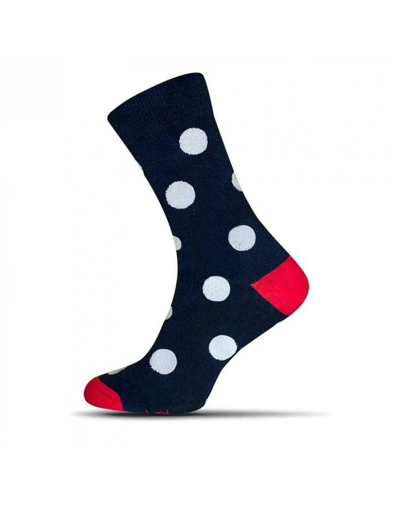Ponožky Avantgard bodky - tmavo modré