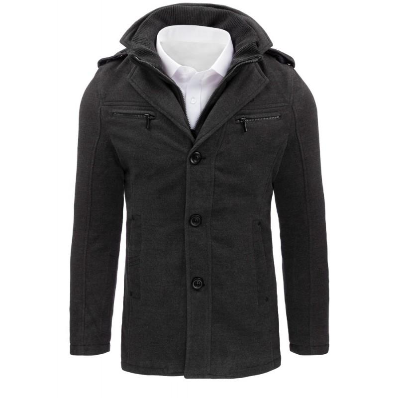 """Pánsky jesenný kabát v antracitovej farbe (cx0371) """"M"""""""