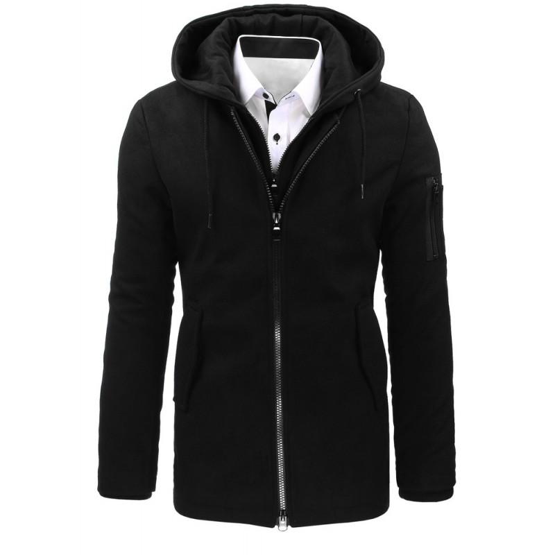 Pánsky zimný kabát (cx0358) - čierny