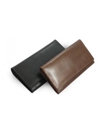 Hnedá dámska listová peňaženka s klopou