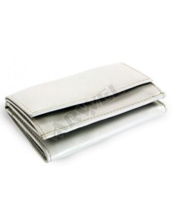 Dámska sivá mini peňaženka z kože