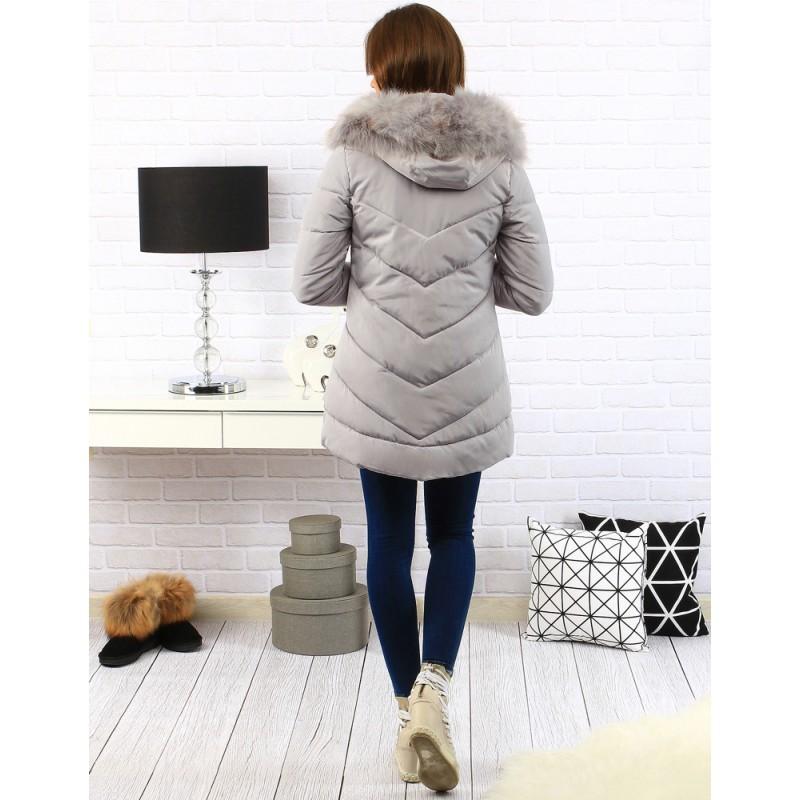 Dámska zimná bunda (ty0123) - sivá