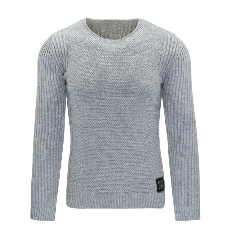"Pánsky sveter (wx0831) - sivý ""S"""