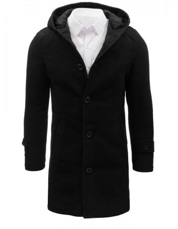 "Čierny pánsky kabát s kapucňou (cx0367) ""XL"""