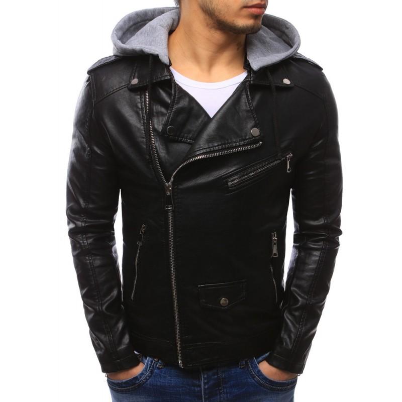 """Pánska kožená bunda (tx2090) - čierna """"XXL"""""""