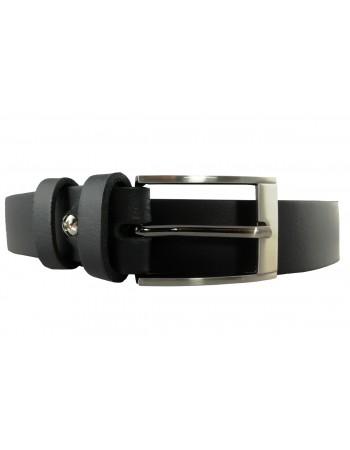 Klasický kožený čierny opasok OP-004