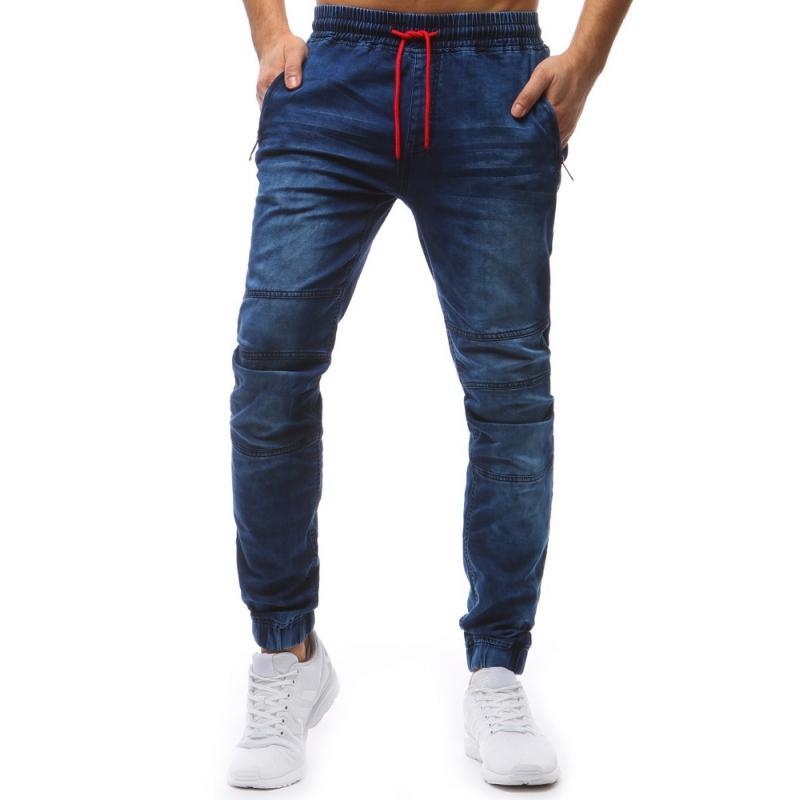 87f5e7844fe7 Pánske nohavice jogger (ux1234) - modré