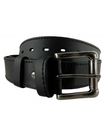 Pánsky kožený opasok čierny OP-015
