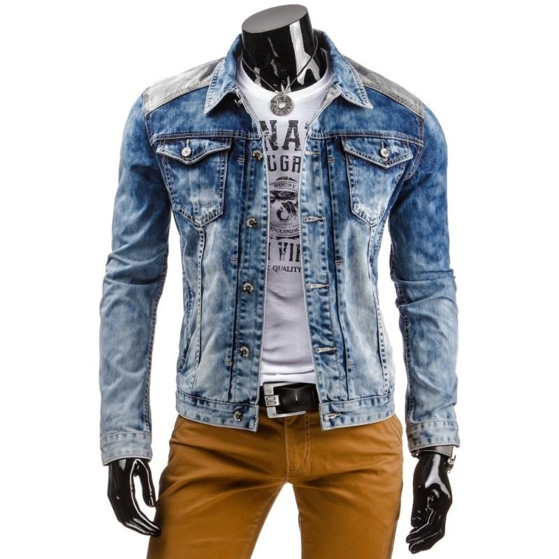 """Pánska rifľová bunda (tx0857) - modrá """"S"""""""