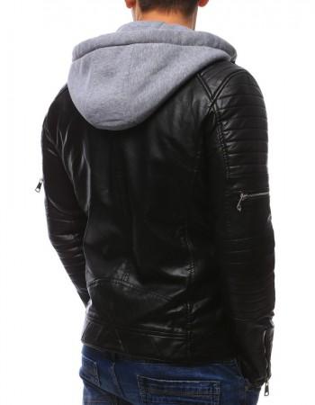 """Čierna pánska koženková bunda (tx2089) """"L"""""""