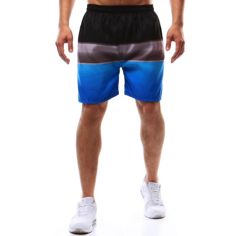 """Pánske šortky na kúpenie (sx0366) - čierno-sivo-modré """"XL"""""""