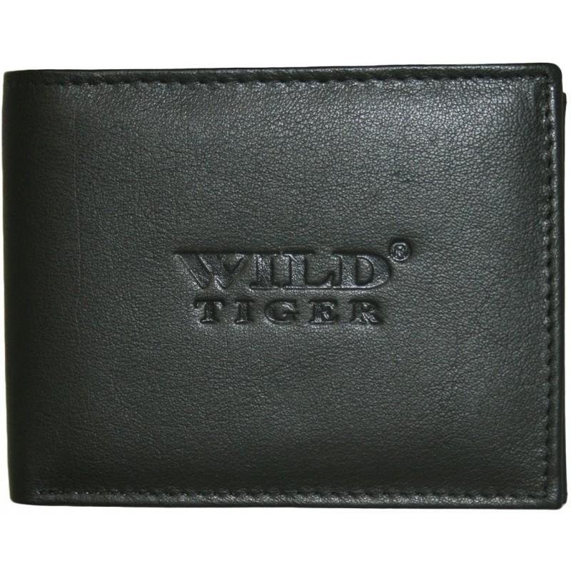 Čierna kožená peňaženka Wild Tiger AMW-01-033 ac1dc85d342