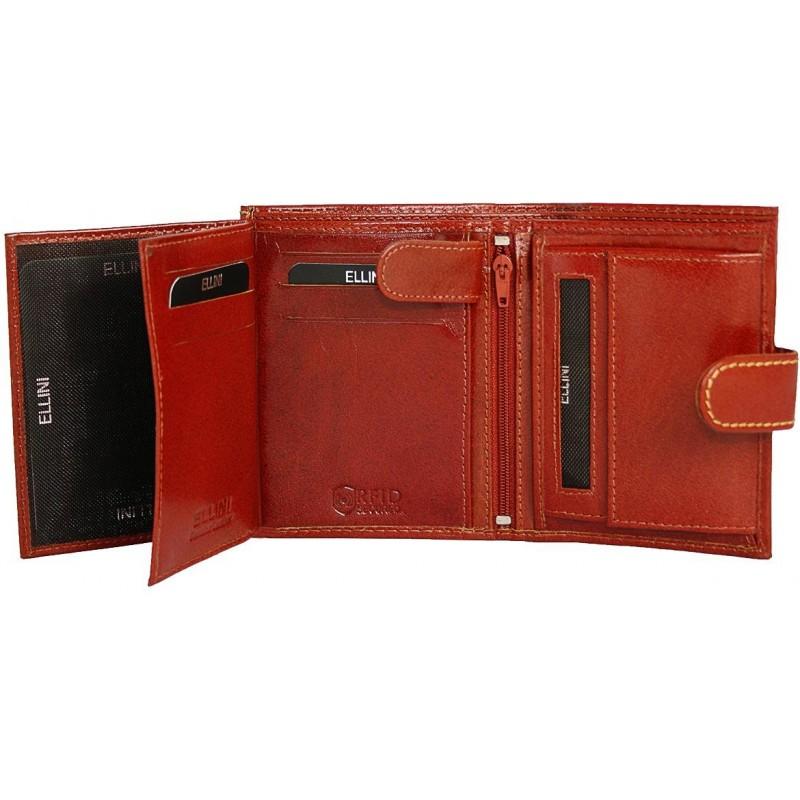 Unikátna pánska peňaženka Ellini - svetlohnedá d0f72cf1377