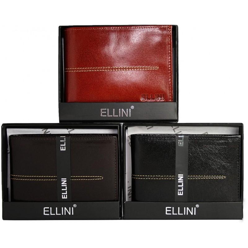 Pánska peňaženka Ellini - čokoládovo hnedá 7485602e07b