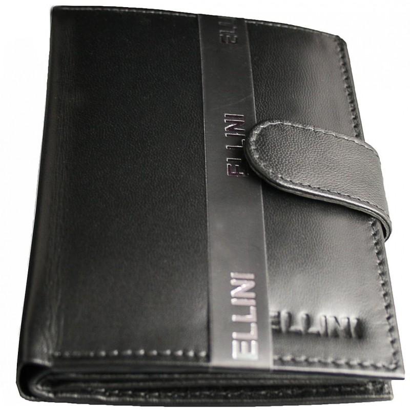 Čierna pánska kožená peňaženka Ellini TMS-51R-249 fa3b367eb1b