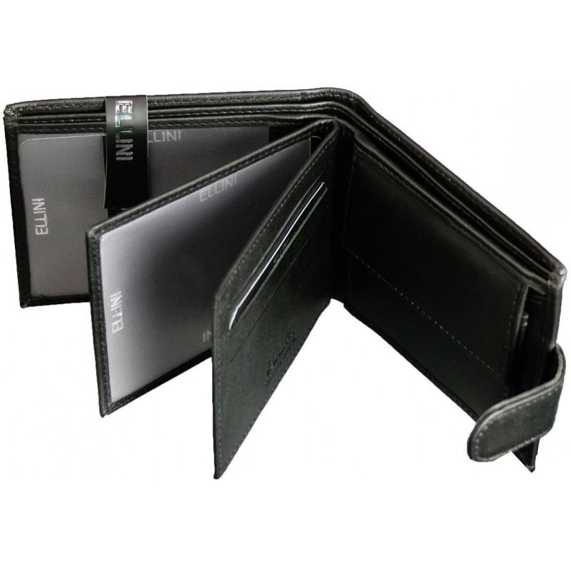 Čierna kožená peňaženka Ellini TM-14-254 8b0207ac2c7