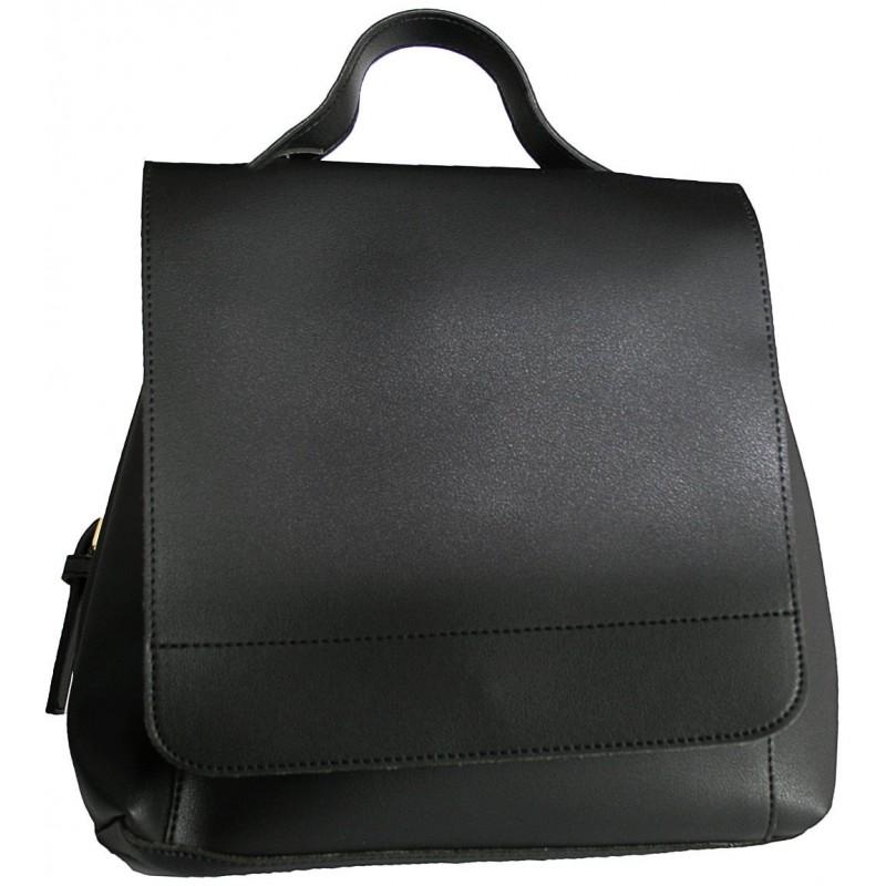 Malý elegantný dámsky ruksak - čierny 4ac8db4f53