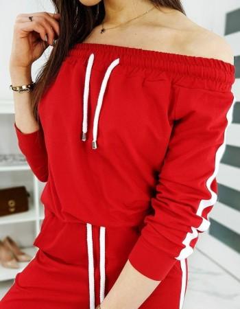 Komplet dresowy damski AMARON czerwony AY0212