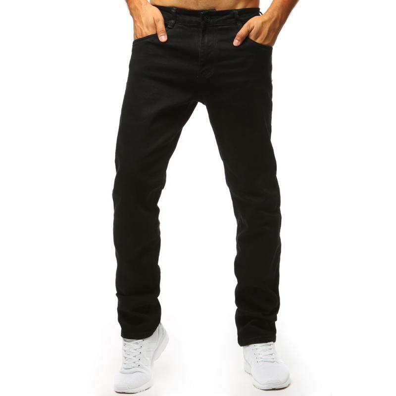 Čierne pánske jeansy (ux1313)