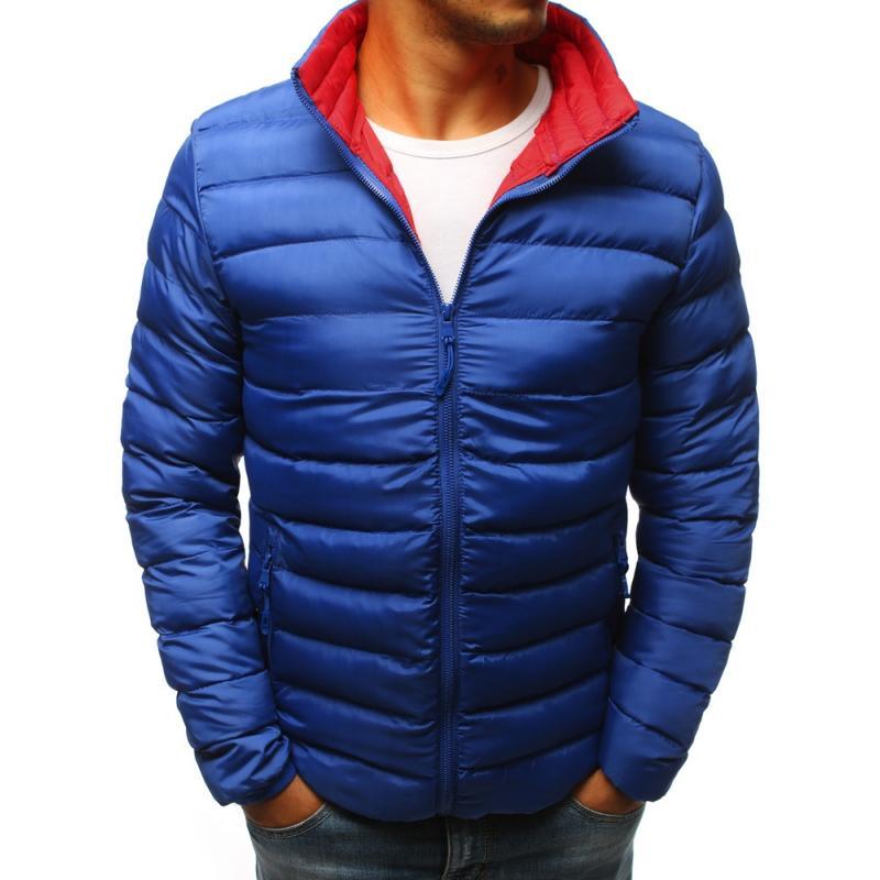 Pánska prechodná bunda bez kapucne (tx2275) - modrá 97b22789ec2