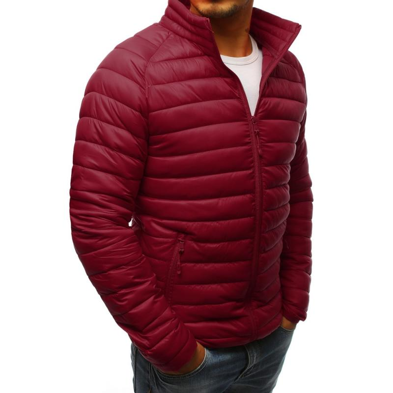 Bordová pánska bunda bez kapucne na prechodné obdobie (tx2279) 7aea9625301