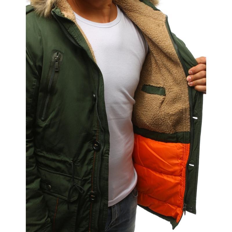 Pánska bunda na zimu (tx2335) - zelená be2c7580ec4