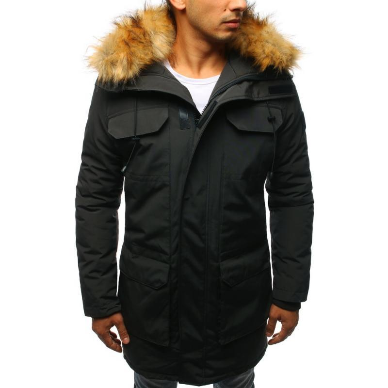 Pánska zimna bunda (tx2341) - tmavo šedá f8d474b517b