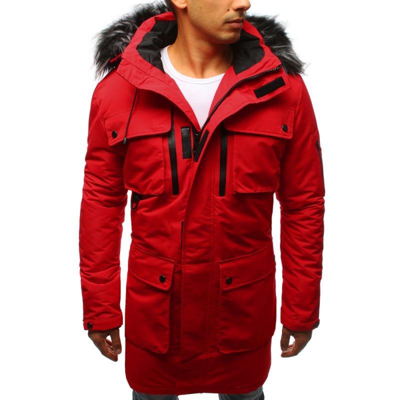 Pánska zimná parka (tx2357) - červená 30d35d78ca1