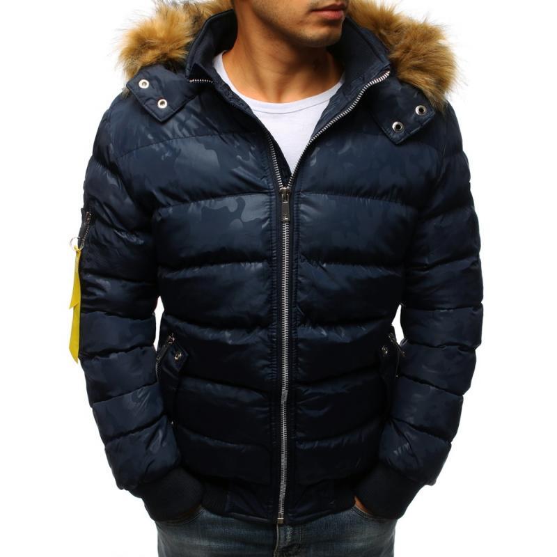 Zimná bunda pre mužov (tx2322) - tmavomodrá