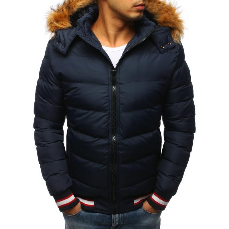 Pánska  tmavo modrá zimná bunda (tx2328)