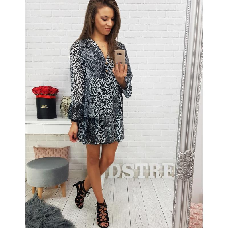 Šaty ELLA čierno-biele (ey0430) f4966a6033