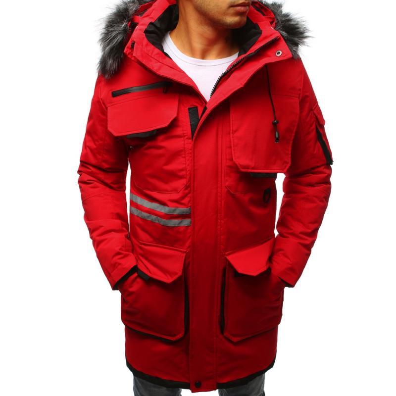 Pánska zimná parka  (tx2354) - červená