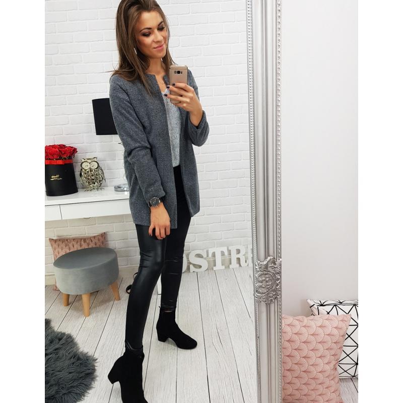 Dámsky kabát COSSY (ny0132) - tmavo sivý f0600f27c6d
