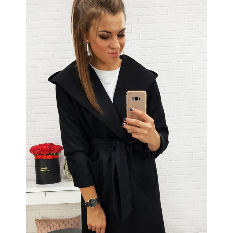 Kabát dámsky LUSSO (ny0146) - čierny 7ddc1afd575