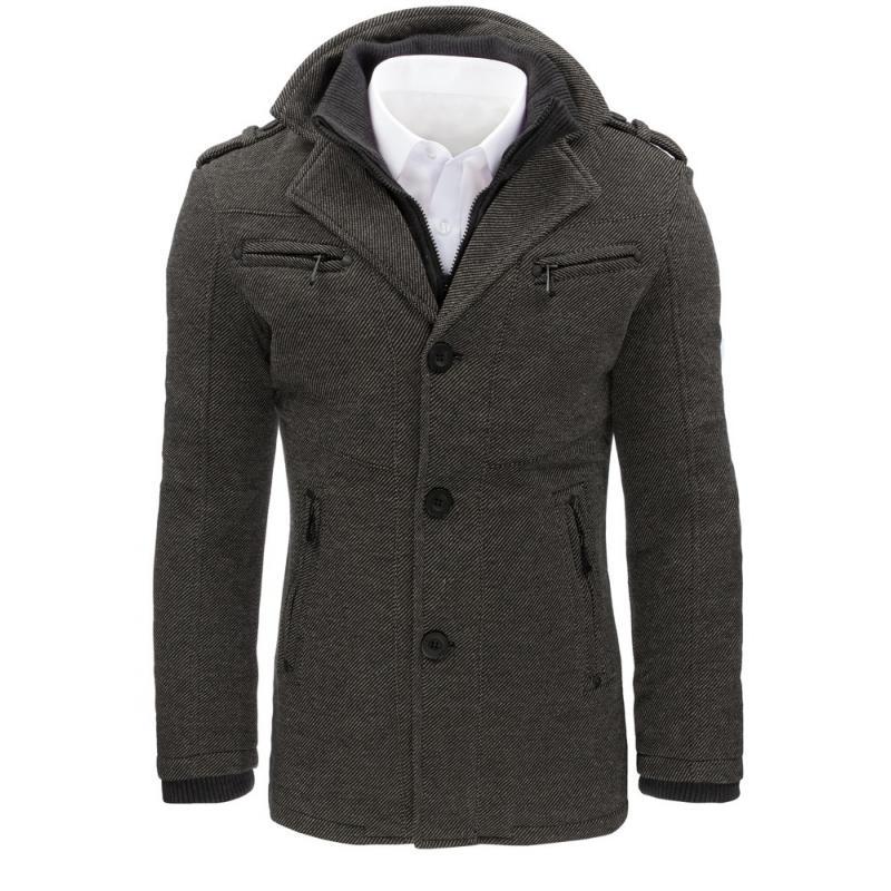Pánsky kabát (cx0384) - sivý 01d8936dcbe
