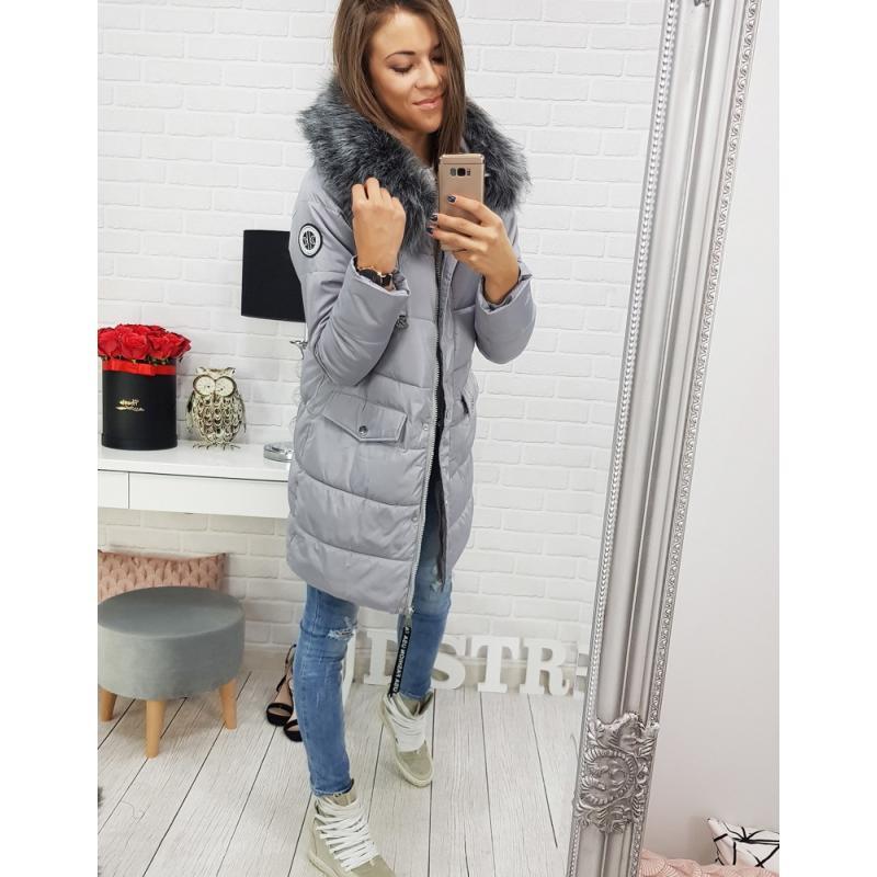 Dámska zimná bunda LAPLAYA s kapucňou (ty0357) - sivá